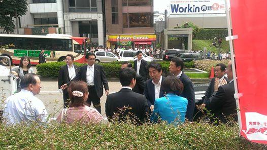 20130710参院選_金沢街頭演説_安倍首相来県