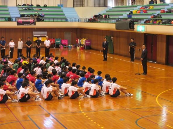 小松市中学校新人総合体育大会バレーボール競技開会式