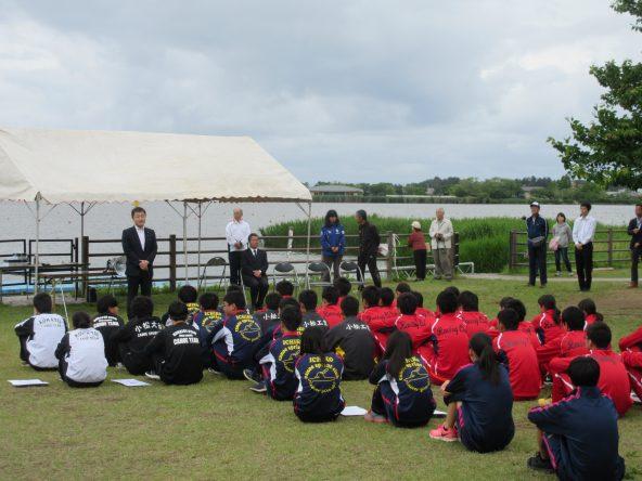 石川県高等学校総合体育大会 カヌー競技閉会式