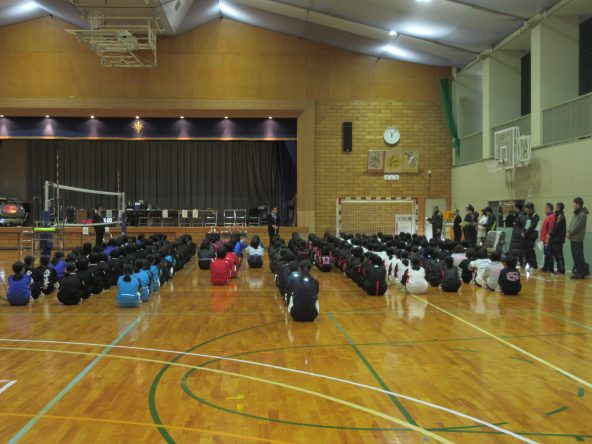 女子石高旗・石高杯バレーボール大会開会式