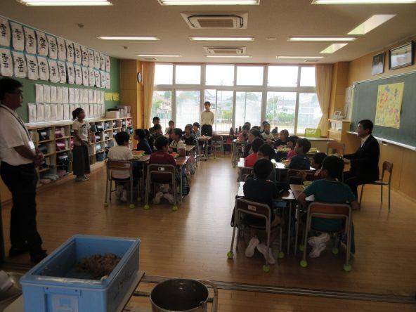 芦城小学校給食体験