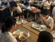 東和中学校給食体験
